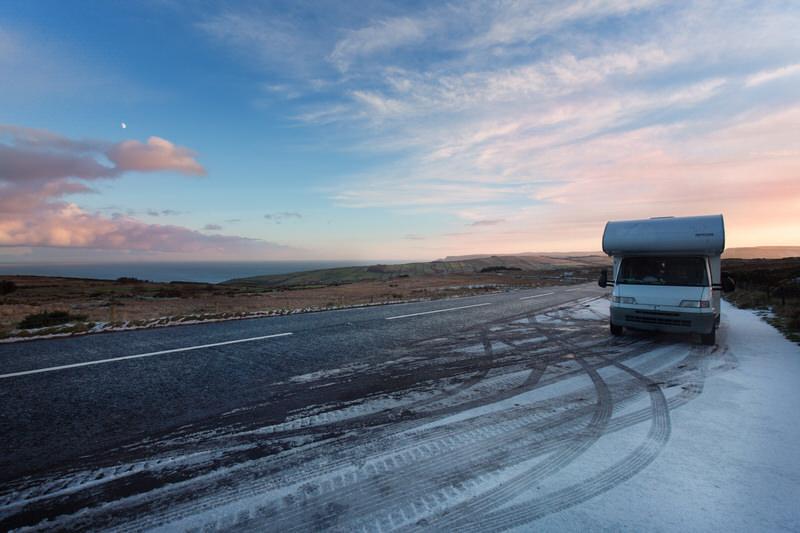 Voyage Irlande camping-car hiver