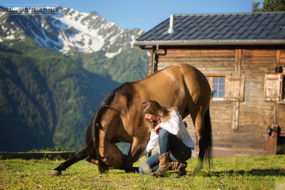 Révérence cheval en Valais Martigny