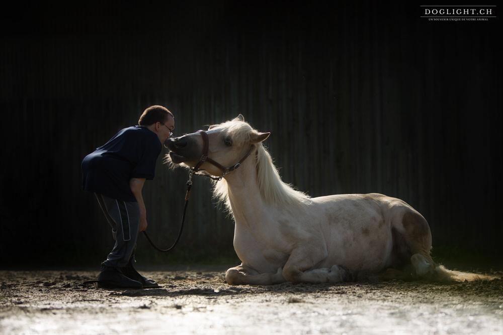 Laurent & Kana en Belgique - Complicité spectacle homme handicap cheval