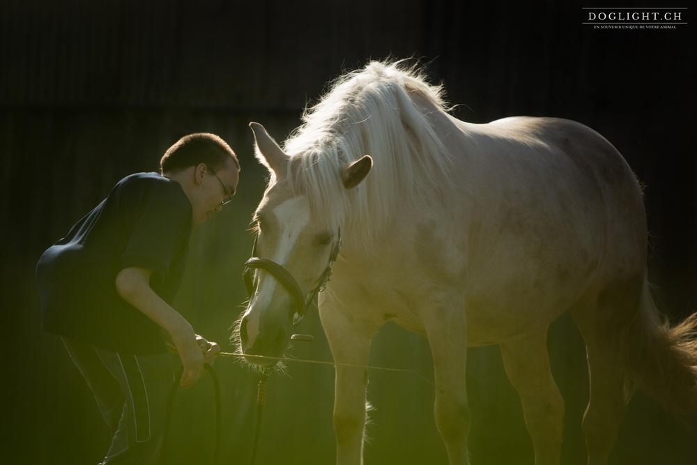 Complicité homme cheval handicap