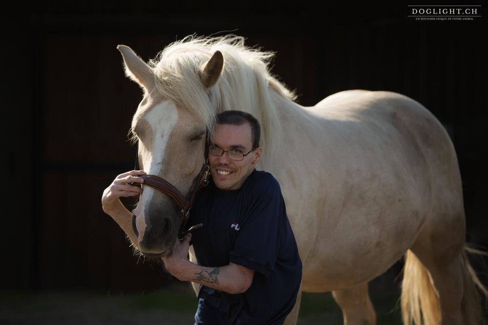 Homme cheval et handicap - Photographe