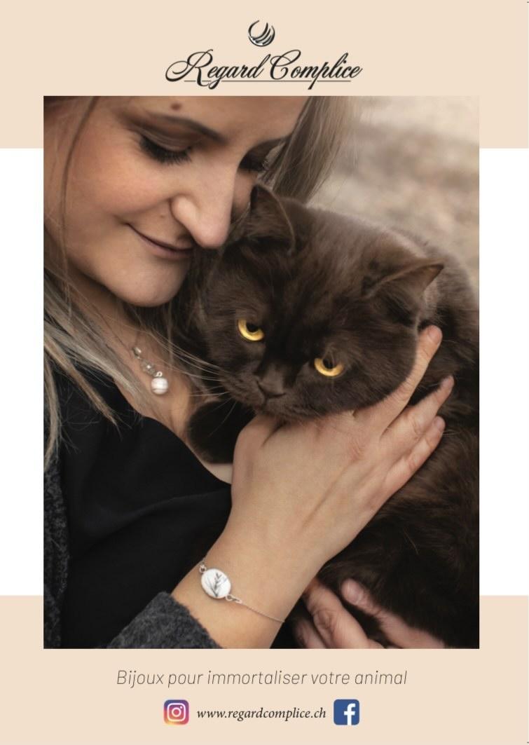 Affiche Regard Complice - Bijoux cadeau pour immortaliser et garder un souvenir de nos animal
