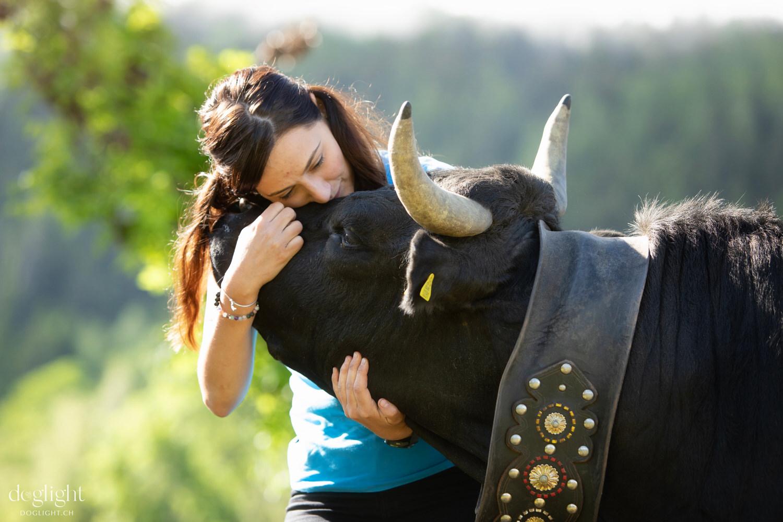 Câlin vache tendresse complicité